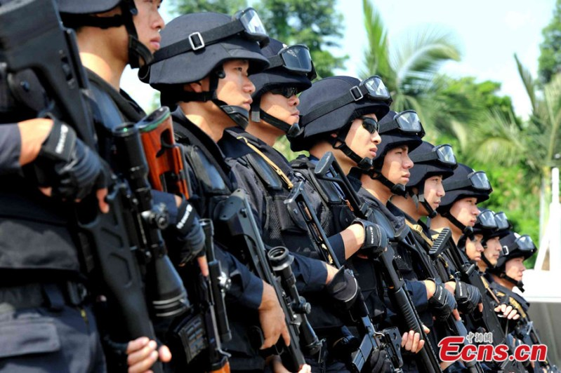 terrorist police china