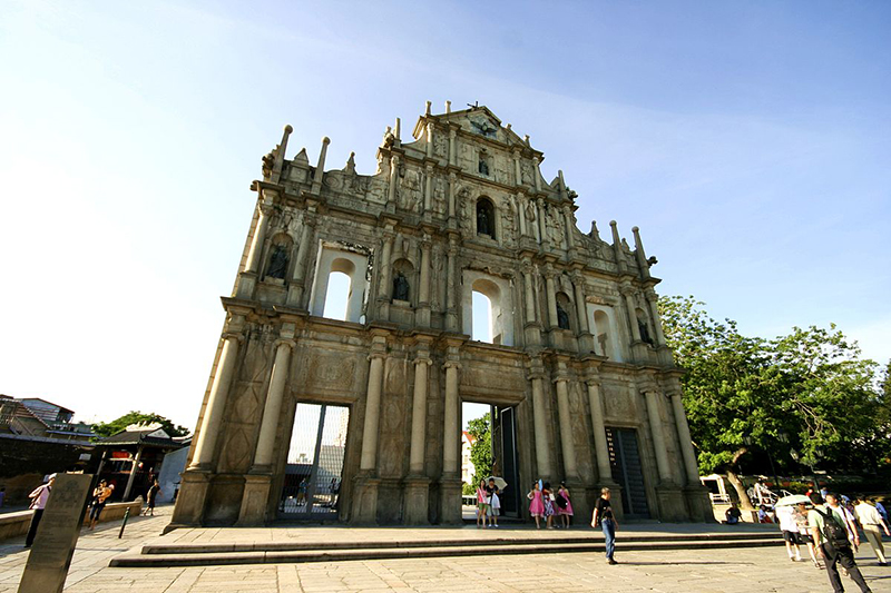 Ruins of St. Paul's in Macau. Photo: Wikimedia Commons.