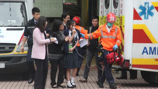 gas leak school ambulance