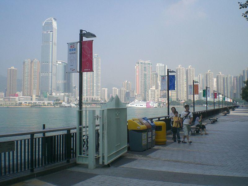 tsing yi promenade cy leung fishing swimming