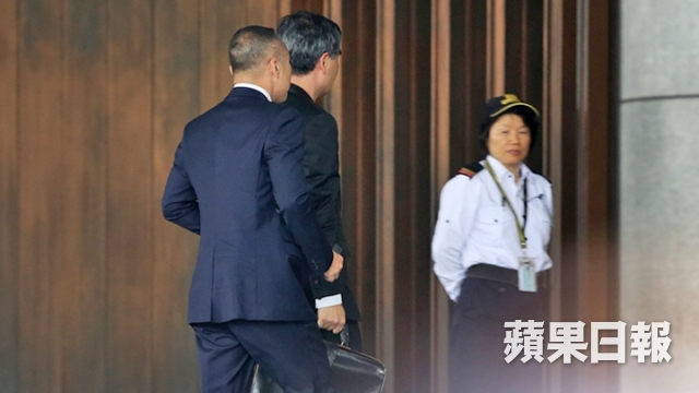 CY Leung heads to office