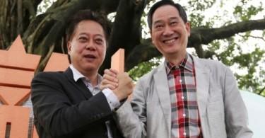 Hau Chi-keung with Lam Wai-keung