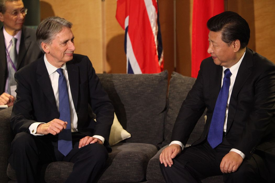 Foreign Secretary Philip Hammond welcomes President of China, Xi Jinping to London, 19 October 2015.