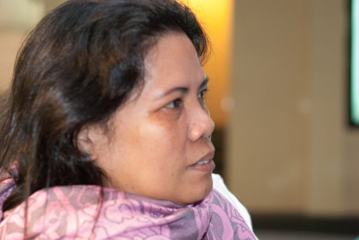 Grace Estrada, chairwoman of the Progressive Labour Union of Domestic Workers