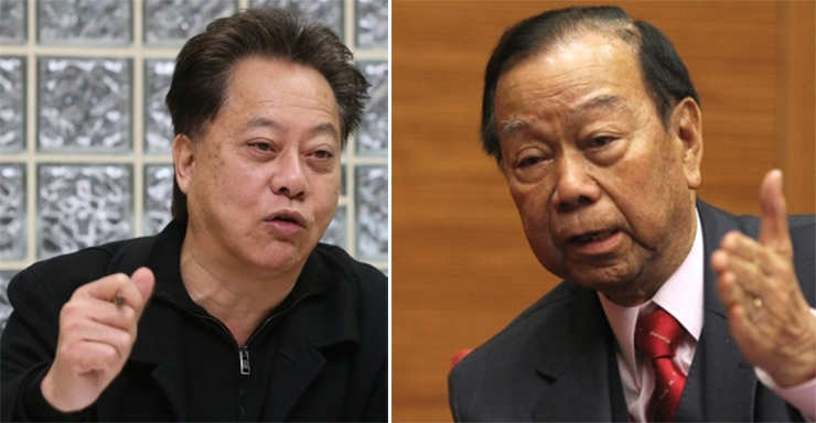 Hau Chi-keung (left) and Lau Wong-fat (right).