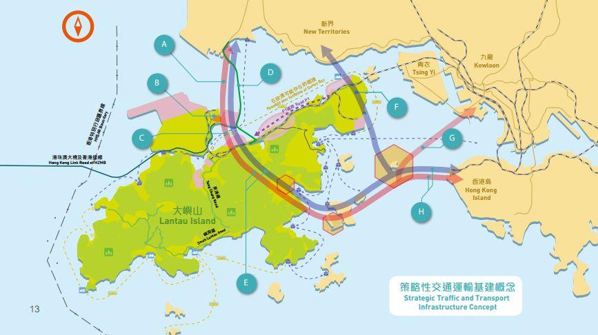 lantau island map