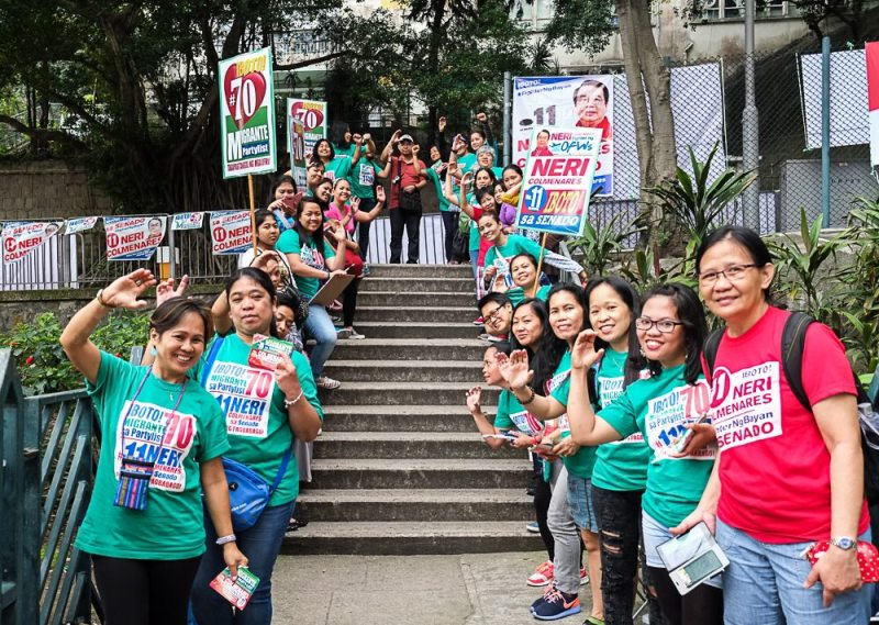 Hong Kong Filipino Domestic Workers goes to the ballots voting day