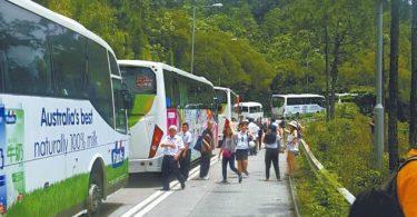 Traffic jam Keung Shan Road