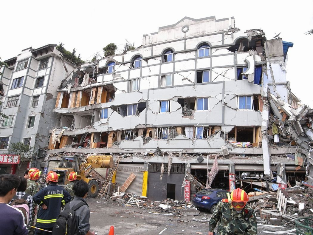 Sichuan earthquake building collaspe