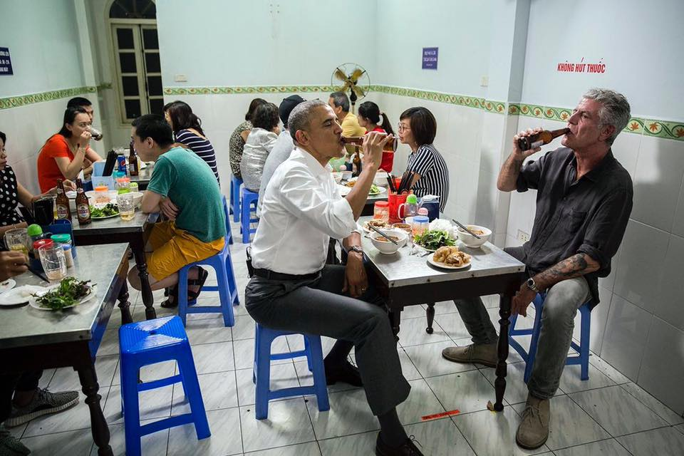 Obama and Anthony Bourdain