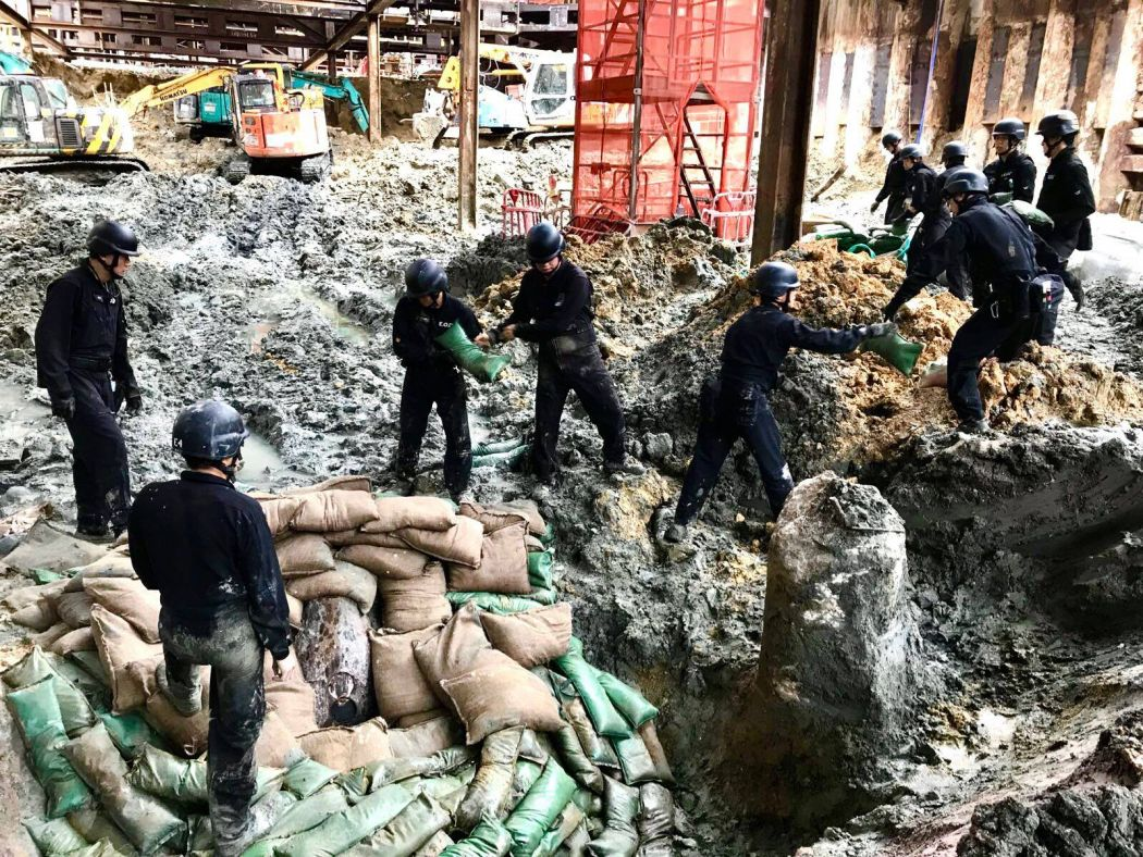 Hundreds evacuated in HK after DISCOVERY OF WW2 bomb