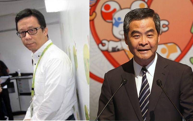 Ricky Wong and Leung Chun-ying