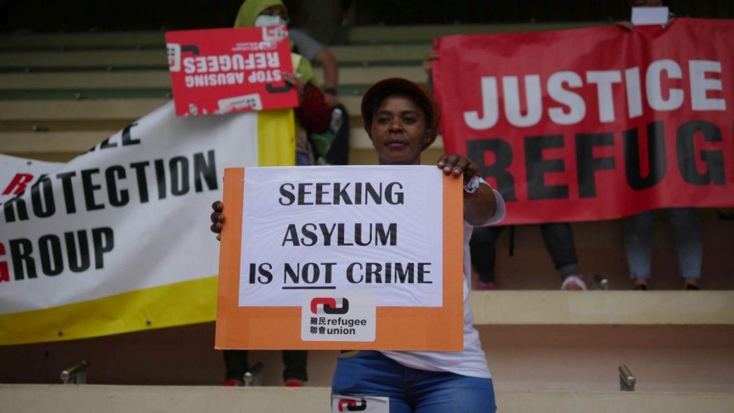 hong kong refugees asylum protest