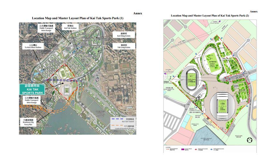 layout plans for kai tak park