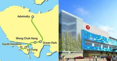 map ocean park mtr southern