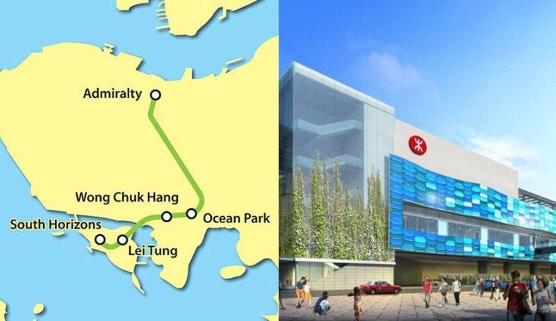 map ocean park mtr southern