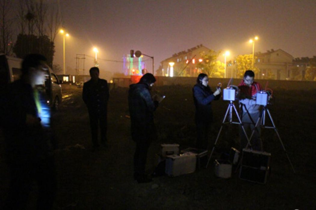 "Changzhou Environmental Protection Bureau inspecting the ""toxic"" land."