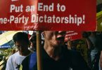 dictatorship one party protest
