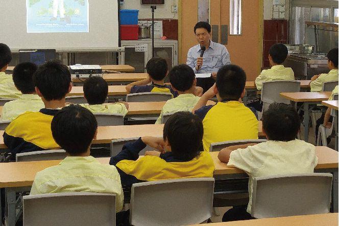 Students at Tung Wan Mok Law Shui Wah School.