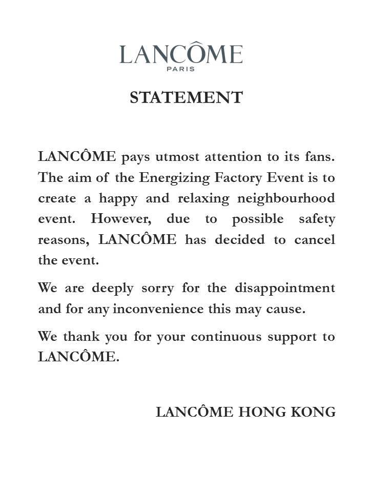 Lancome statement