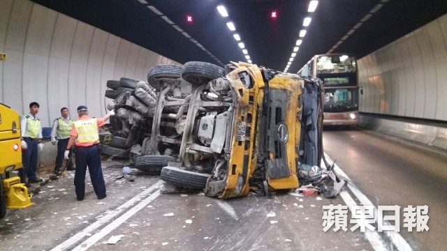 traffic accident at tai lam tunnel