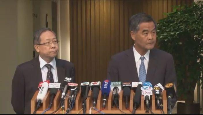 Leung Chun-ying Lai Tung-kwok