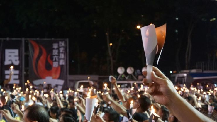 hong kong tiananmen vigil june 4