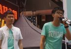 Nathan Law Joshua Wong june 4 vigil tiananmen 2016