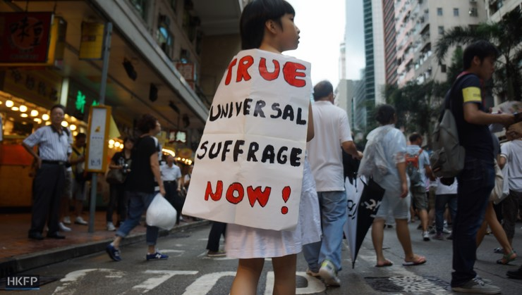 hong kong democracy universal suffrage