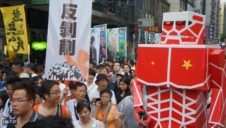 Thousands Rally in Hong Kong Over Beijing's Growing Influence