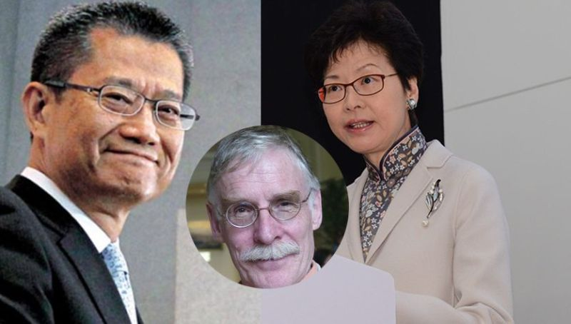 Carrie Lam Paul Chan Tim Hamlett