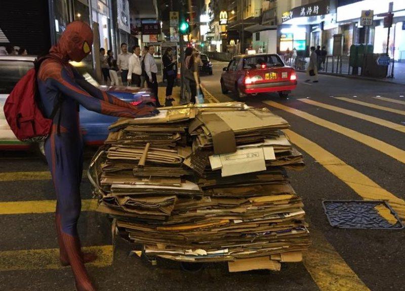 spiderman lan kwai fong