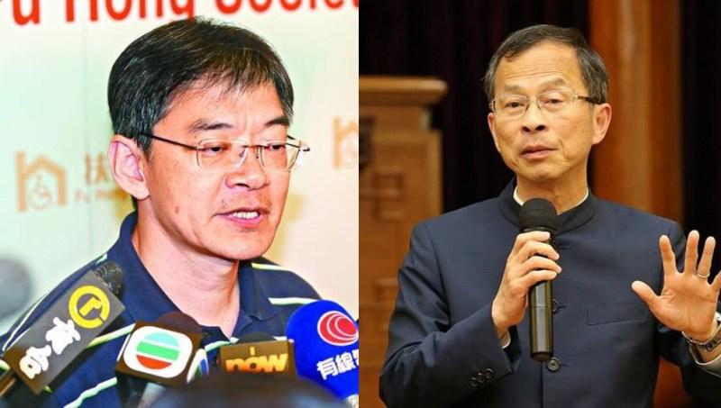 Leung Ka-lau and Jasper Tsang