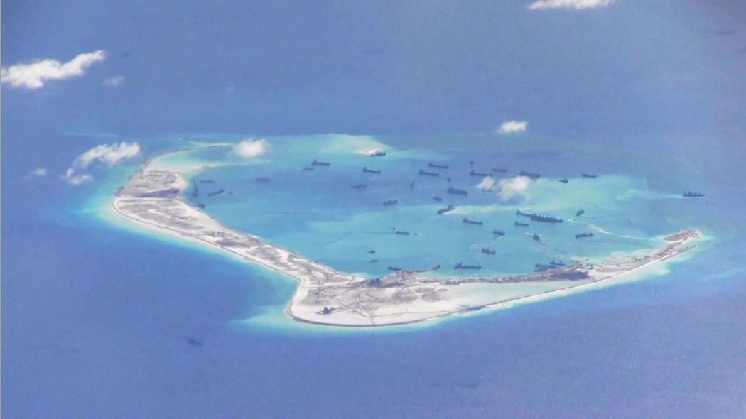 Disputed islands in the South China Sea