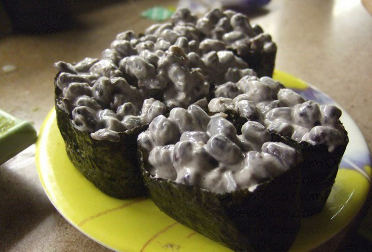 Red bean warship roll