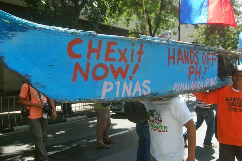 Filipino, fishermen, protest, China, embassy