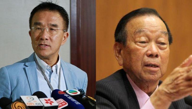 Lau Wong-fat and Michael Tien