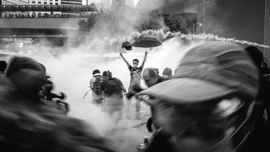 Tear gas Umbrella Movement