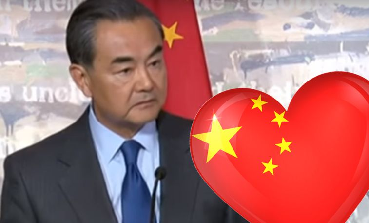 wang yi south china sea heartthrob