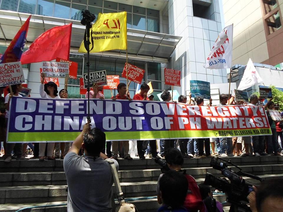 Chexit protest China embassy Manila