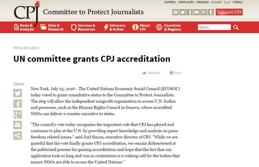cpj press statement