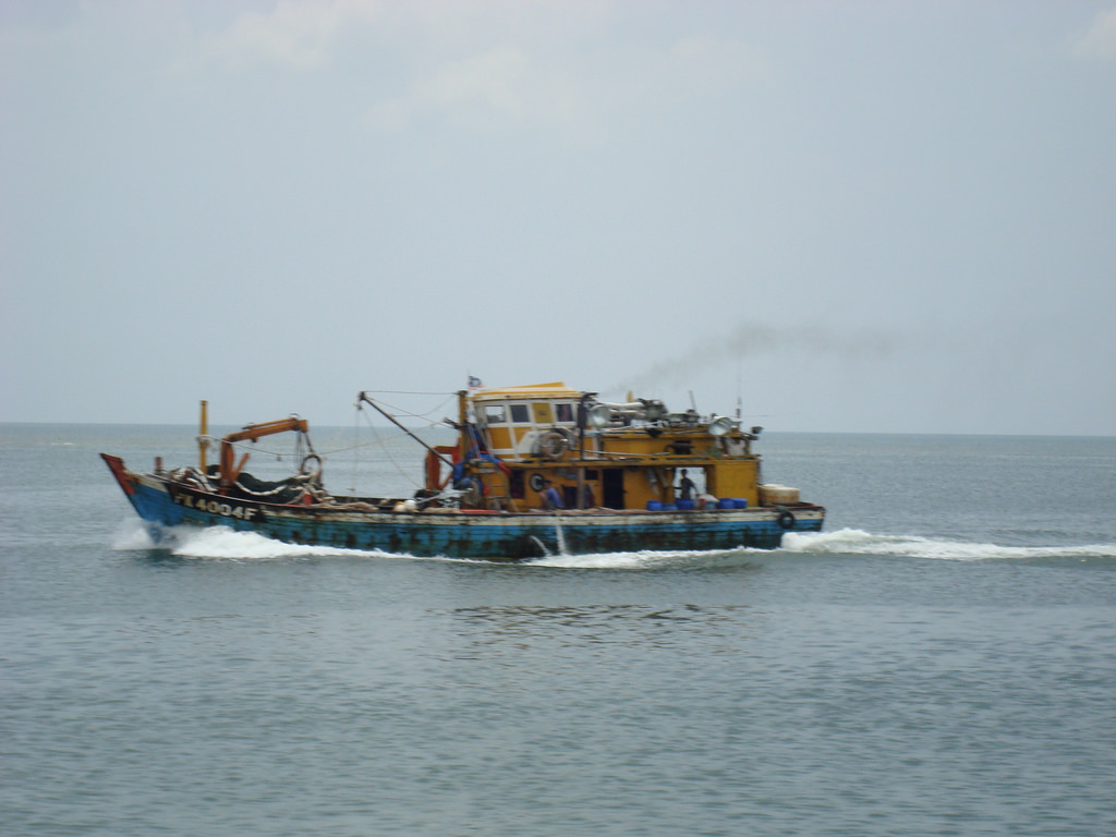 Fishing boat south china sea