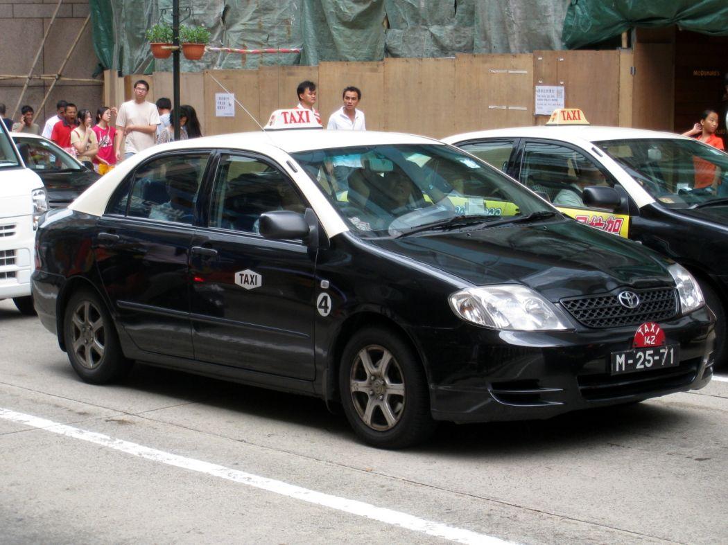 A taxi in Macau