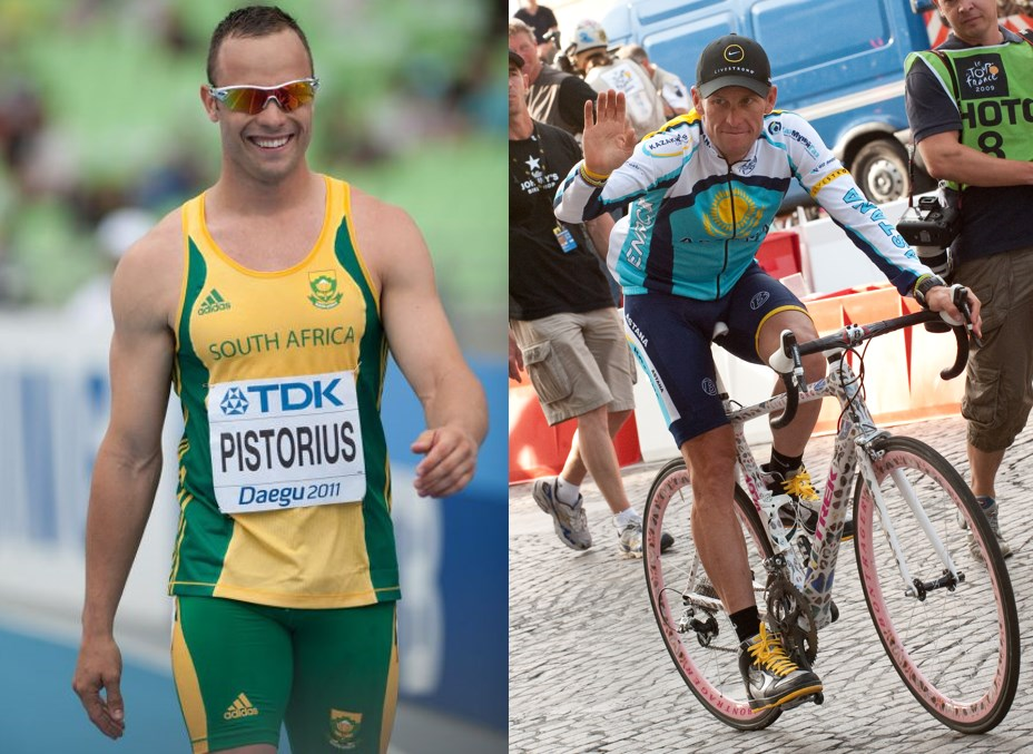 Oscar Pistorius and Lance Armstrong