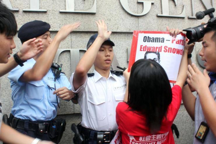 us snowden consulate protest