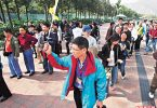 chinese tourist tour group