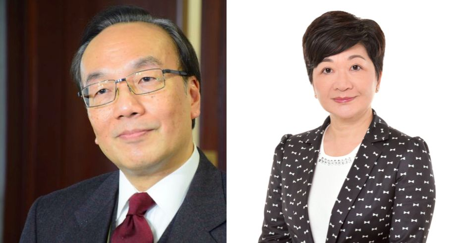 Civic Party lawmaker Alan Leong (left) and Discovery Bay District Councilor Amy Yung. Photo: Amy Yung, via Facebook.