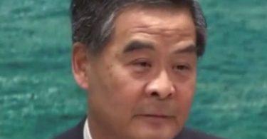 cy leung chokes up