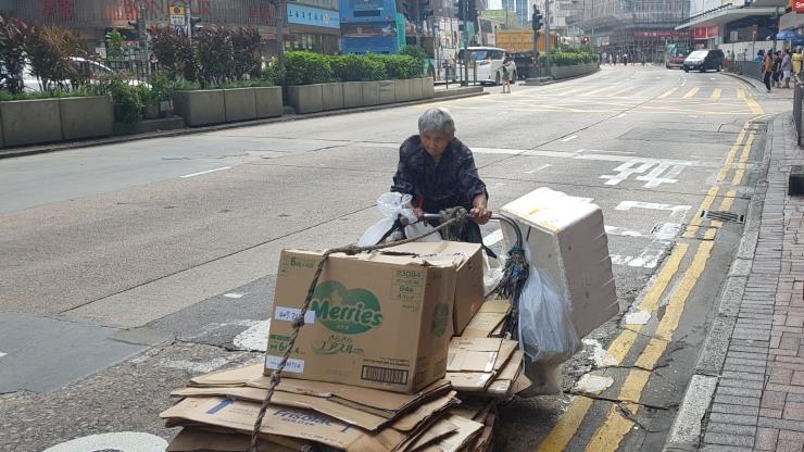 elderly rubbish poverty