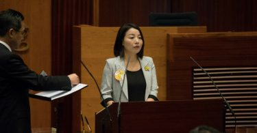 lau siu lai taking oath